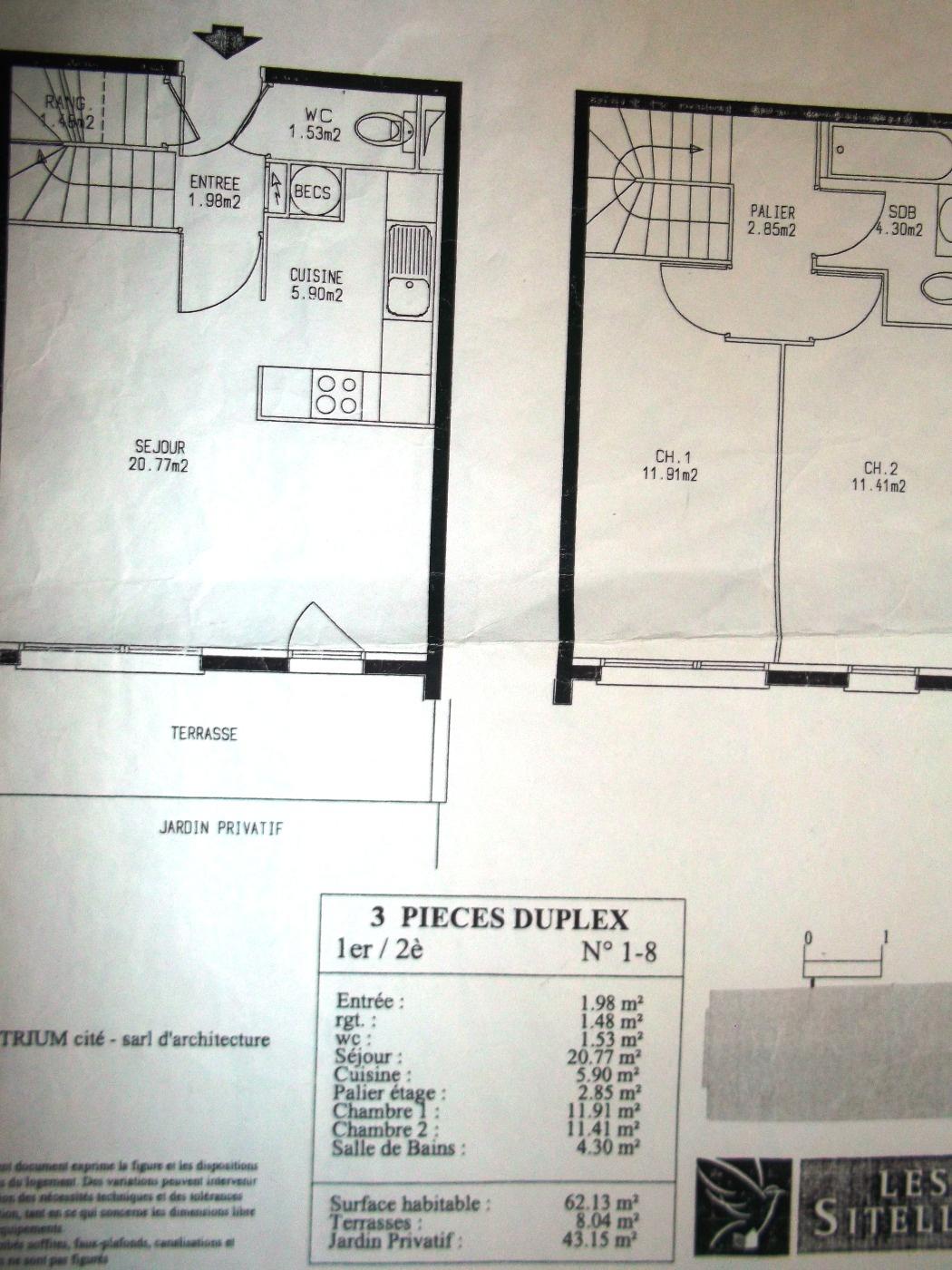 F3 en duplex avec jardinet - Location appartement chelles ...